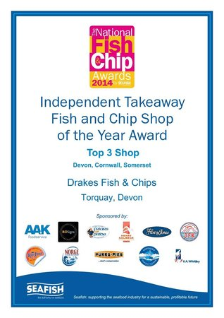 Drake's Fish & Chip Restaurant: Regional Finalist for the National Fish & Chip Awards 2014
