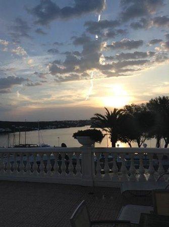 Hotel Port Mahon: View from the hotel balconyat sunrise