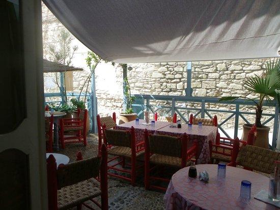 Le Restaurant du Poisson Rouge : La terrasse ombragée