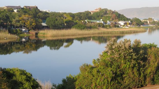 Wilderness Manor Guest House: View from our balcony overlooking the lagoon