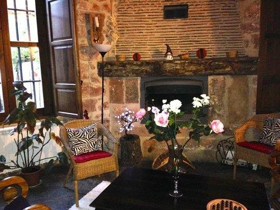 El Senorio De La Serrezuela: Lounge area with chimney