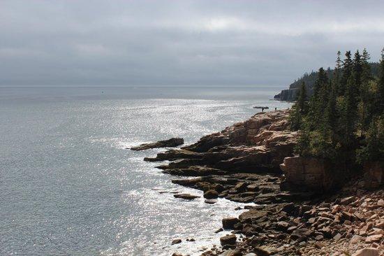 Ocean Trail: Fog clears, ocean view