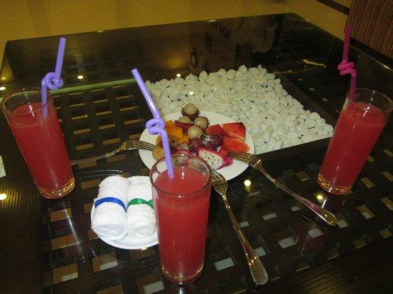 Hue Serene Palace Hotel: agradable y fresco recibimiento a nuestra llegada