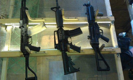 Grotgun Shooting Range: Assault rifles.