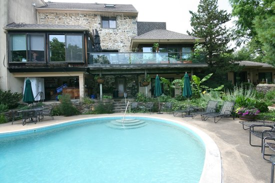 Alpenhof Bed and Breakfast: relax back by the pool if you wish
