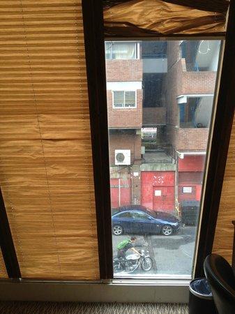 Grand Royale London Hyde Park: damaged blinds, view