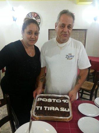 Posto 10: I proprietari/cuochi Genny & Luciano