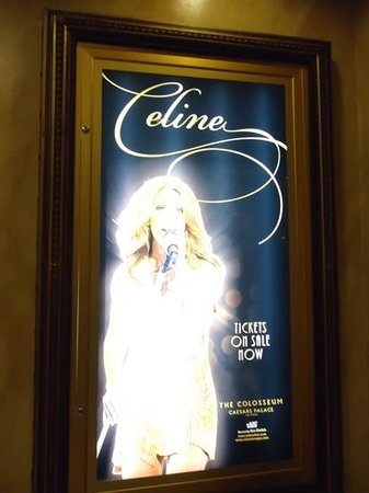 Celine Dion at the Colosseum at Caesars Palace : caesars palace