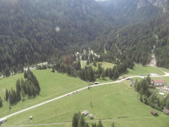 View from the Marmolada - Picture of Camping Malga Ciapela ...