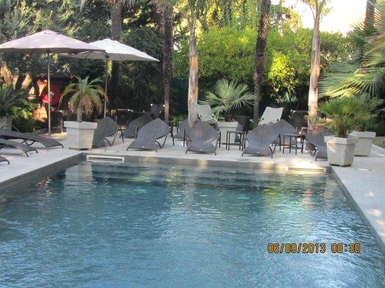 Golden Tulip Cannes Hotel De Paris: jardin avec petite piscine en pleine ville