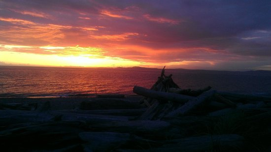 Deception Pass State Park: Sunset from West beach