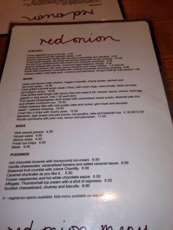 Red Onion: Menu