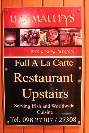 J.J O'Malleys Bar & Restaurant: Restaurant/Pub sign