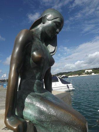 Mahon Port: mermaid in mahon harbour