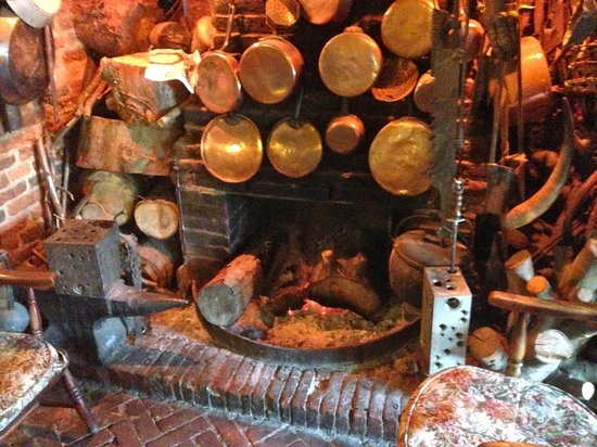 Northchapel, UK: Log Fireplace