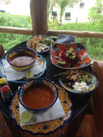 Encantada Tulum: tortilla soup