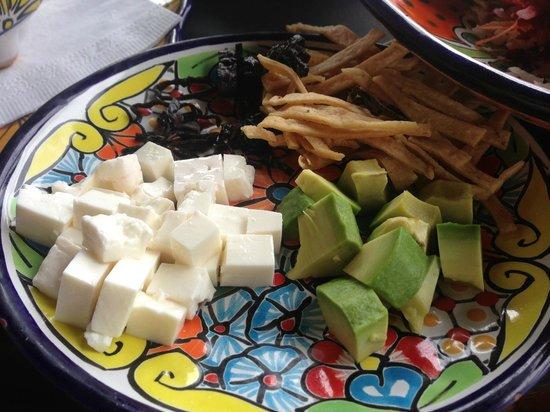 Encantada Tulum: Tortilla soup is so good!
