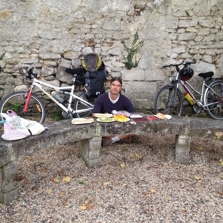 French Mystique Bike Tours: Our picnic prepared by chef Bruce!