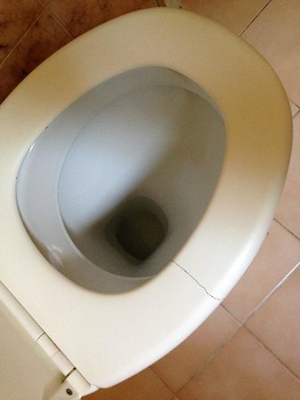 Hotel Mas Bellevue: Kaputter WC-Sitz