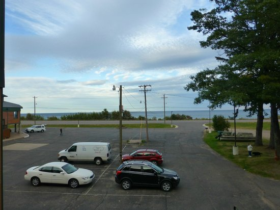 Econo Lodge Lakeside: Blick vom Balkon auf den Lake Superior