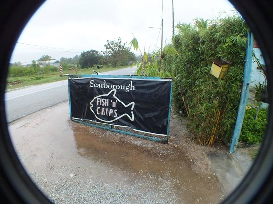 Scarborough Fish & Chips Restaurant: The street side sign