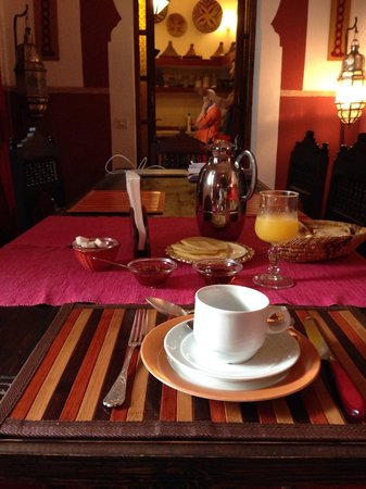 Riad Sable Chaud: Breakfast