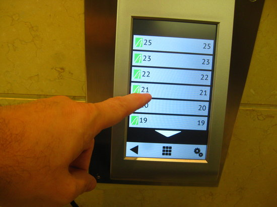 Le Royal Meridien Abu Dhabi: Unique touch pad to summon an elevator