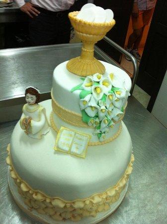 IL DAMASCO ristorante sala ricevimenti: torta comunione