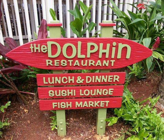 The Dolphin : The front sign