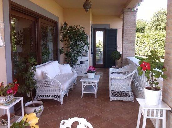 Villa de Samentis: veranda