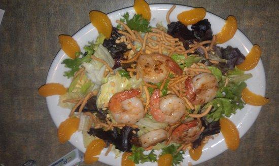 Juicy's Famous River Cafe: My shrimp salad...yum!!!
