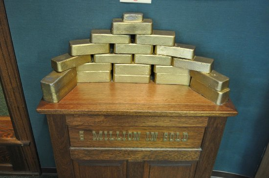 Corrington's Museum of Alaskan History: reproduction of Klondike gold bars