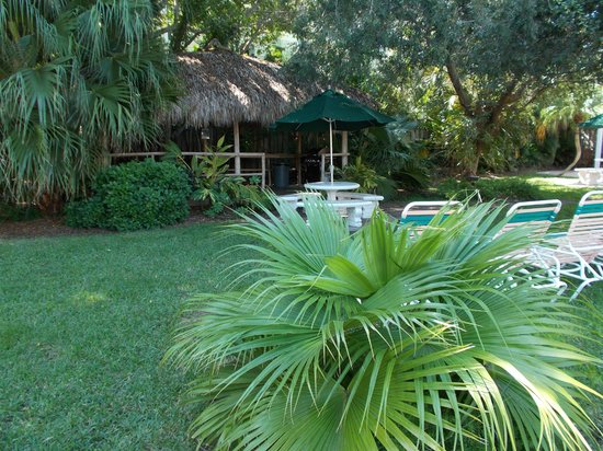 Tropical Beach Resorts : Tiki hut with BBQ