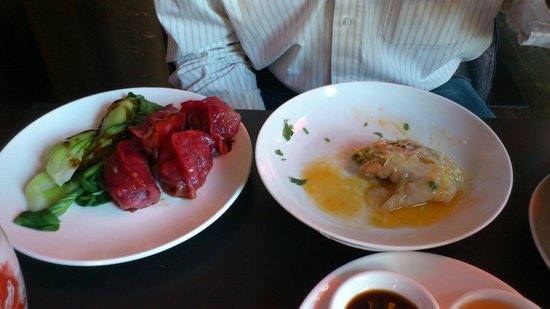 Yumcha Heroes: Red Lamb dumplings and Salmon rolls- they tasted better than they look!