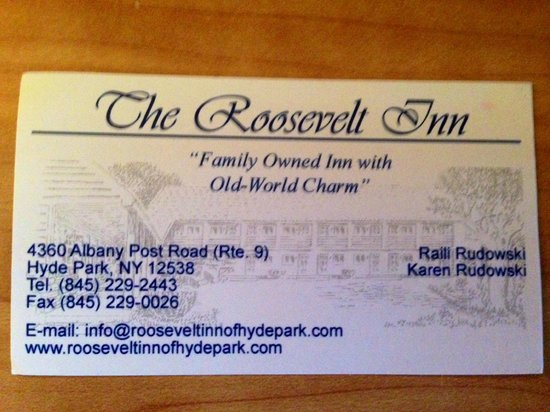 Roosevelt Inn: Contact info as of July 2013