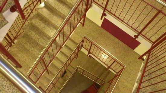 Doblergreen Hotel Stuttgart-Schwieberdingen: Kein Fluchtweg - sondern die Aussicht auf dem Weg zum Zimmer
