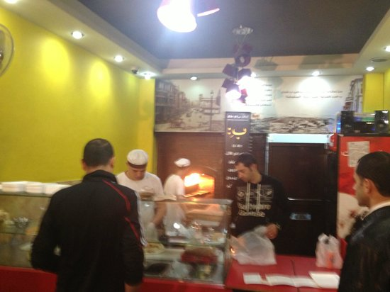 B Lebanese Pastries : The manager is the guy in the black shirt behind the counter. He's GREAT.