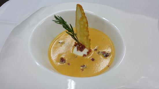 Restaurante HPC Portocolom: crema de calabaza