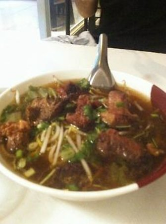 Thai Snack and Massage: Beef Yellow Noodle Egg Soup