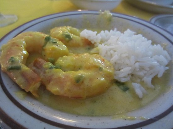 Aromas Del Sur: A small portion of the last shrimp offering on the menu.  (It's in a creamy butter garlic sauce.