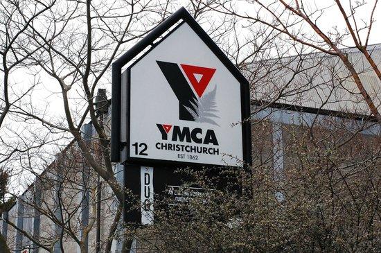 Christchurch YMCA: Signage for YMCA Christchurch