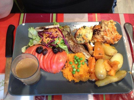 L'O à la Bouche : Vegetarian platter