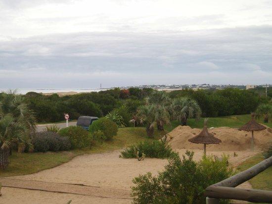 Casa Suaya: Depuis le balcon en direction du sud et de José Ignacio au fond