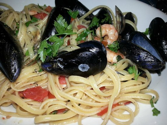 la vecchia taverna: Pasta with seafood