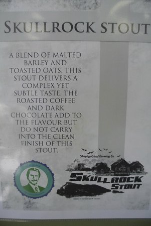 Sleeping Giant Brewery : skull rock stout