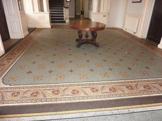 De Vere Theobalds Estate: mosiac floor - old mansion lobby