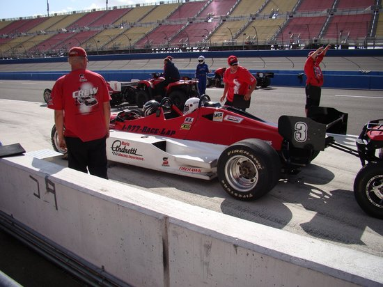 Auto Club Speedway: Indy style car for two