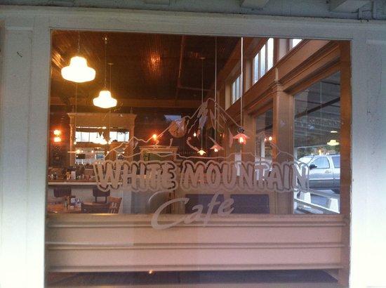 White Mountain Cafe : Front window