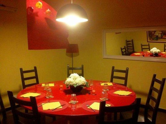 Sottosopra: Il tavolo Tondo, saletta privata