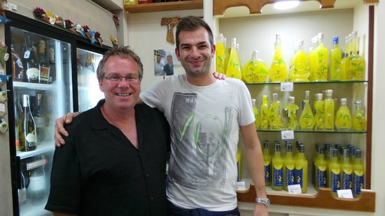 Corner Shop Sorrento: With the son of the owners..